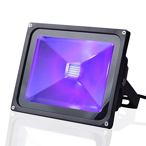 UV Black Light, CHINLY Outdoor High Power 30W Ultra Violet LED Flood Light, IP65-Waterproof for DJ Disco Night Clubs, Blacklight Party, Fluorescent Effect, Neon Glow, Glow in The Dark
