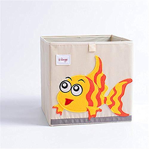 Cartoon Toy Storage Box for Baby Canvas Storage Box/Bin/Cube/Chest/Basket/Organizer (Fish)