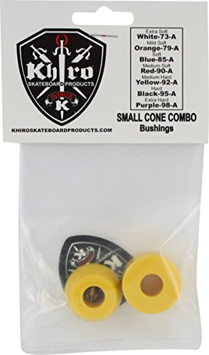 - Khiro Small Cone Large Barrel Bushing Set 92a Medium Hard Yellow Skateboard Bushings