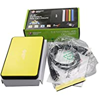 Masterstor 2 Year Warranty 80GB External Hard Disk Drive USB 3.0 Super-Fast Laptop Hard Drive 2.5-inch For Mac and Mac Book Portable Hard Drive Yellow