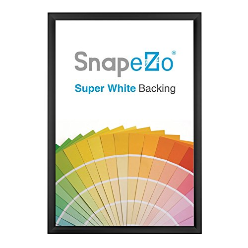 - SnapeZo Weather and Water Resistant Black Poster Frame 36x48 Inch, 1.38