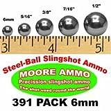 391-pack 6mm Steel-Ball slingshot ammo BBs Pellets (12 oz)