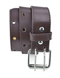 Belle Donne - Girl's Leather Two Hole Perforated Jean Belt - Brown/Small