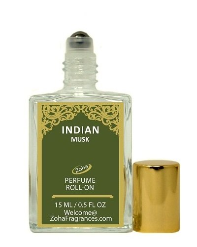 Indian Musk (Roll-On) Majmua Oil Perfume by Zoha Fragrances, 15ml/0.5fl Oz