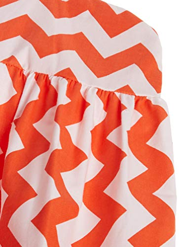 Baby Doll Bedding Chevron Diaper Stacker, Orange