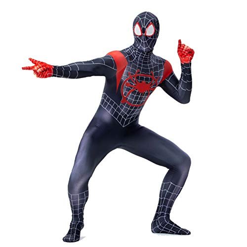 KAWAYI Spiderman Zentai Jumpsuit for Adults Spandex Dress Up Comics Halloween Animal Cosplay Outfit Costume Bodysuit XS-XXL,S ()