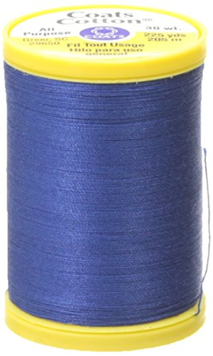 Coats Thread & Zippers General Purpose Cotton Thread, 225-Yard, Yale Blue (Thread Yale Sewing)