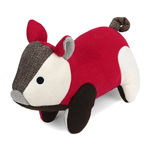 Martha Stewart Fleece Pig Bonded Mesh Dog Toy for Moderate Chewers