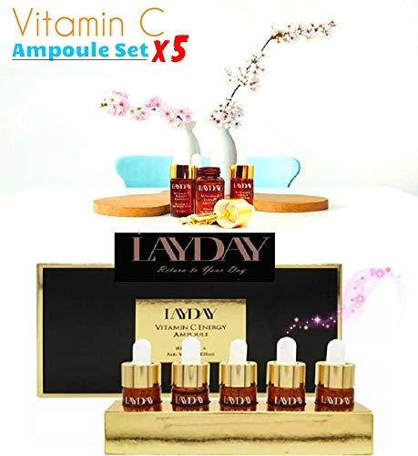 Korean Cosmetics LAYDAY Vitamin C Energy 13ml x 5pcs Ampoule Set Face Skin Care Anti Wrinkle, Anti Aging, Remove Freckle, Whitening, Moisturizing