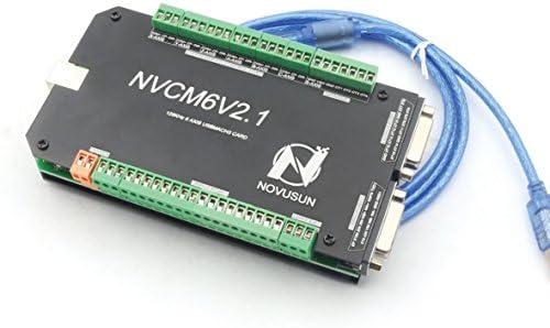 6 Axis 125KHz NVCM USB Mach3 Stepper Motor Motion Control