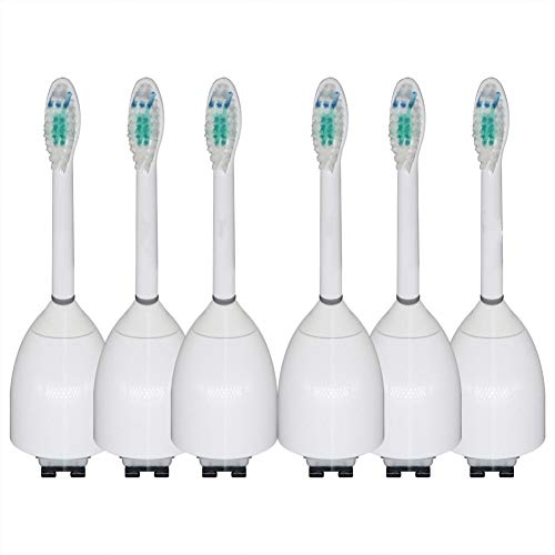 6packReplacement ElectronicToothbrushHeads hx7022/66 for Philips SonicareE-seriesSensitive Sonicare Advance, CleanCare, Elite, Essence and Xtreme for Philips Brush Handles ()