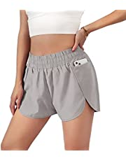 """Blooming Jelly Womens Quick-Dry Running Shorts Sport Layer Elastic Waist Active Workout Shorts with Pockets 1.75"""""""