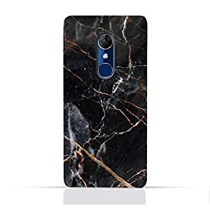 AMC Design Alcatel 5 5086A 5086Y 5086D TPU Silicone Protective Case with Grey Marble texture Design