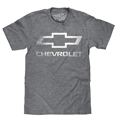 Tee Luv Chevrolet Shirt - Licensed Distressed Chevy Bowtie Logo T-Shirt (XXX-Large)