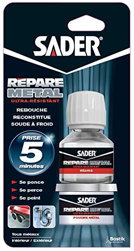 Sader 2 Pots Epoxy Ré pare Mé tal - 81g Bostik SA AT246517