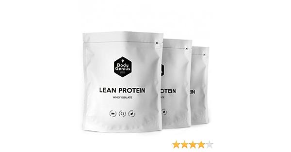 BODY GENIUS Trío Lean Protein (Dulce Cacao + Vainilla + Leche Merengada). 3x500g. Whey Isolate. Proteína en Polvo con Stevia. Vitaminas y Minerales. ...