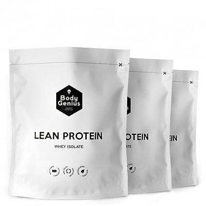 BODY GENIUS TRIO Lean Protein. Whey Isolate. Proteina en Polvo con Stevia. 500