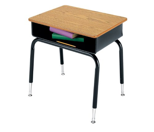 Virco 785MBB - Student Desk with Open Front Metal Book Box, 18'' x 24'' Top (Virco 785MBB)