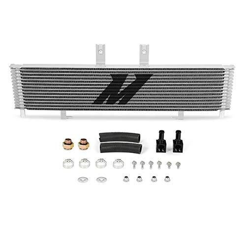 (Mishimoto MMTC-DMAX-06SL Silver Transmission Cooler for Chevrolet/GMC 6.6L Duramax (LBZ/LMM) 2006-2010)