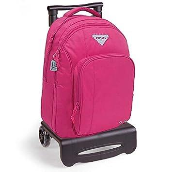Mochila ruedas privata Pink con carro negro: Amazon.es: Juguetes y juegos