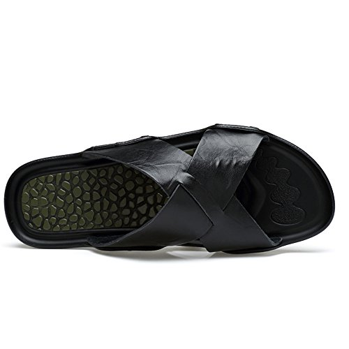 para de Antideslizantes Sandalias Playa Sandalias Exteriores y Moda de 2018 Negro Interiores Hombres Zapatillas 86qwWUI