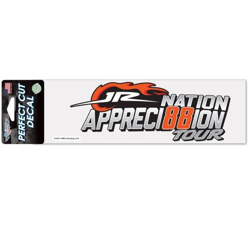 NASCAR Driver 3 x 10 Perfect Cut Decal with 2017 Graphics (Dale Jr Appreci88ion Tour)