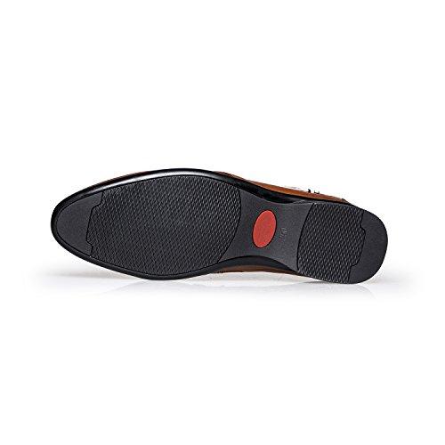 ZRO Men's Modern Slip On Monk Strap Buckle Business Dress Shoes Black for nice sale online xAyRcHKiS