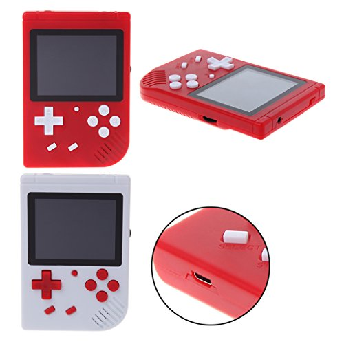 Fucung Built-in 400 Games Classic MINI Handheld Game Player, Support TV Out Retro Video Game Console for Boy (Console Component)