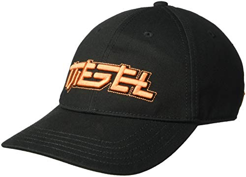 Designer Embroidered Caps - Diesel Men's C-JAPPI HAT, Black, 01