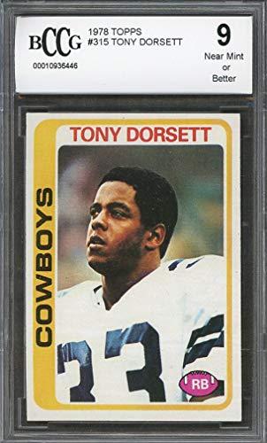 - 1978 topps #315 TONY DORSETT dallas cowboys rookie card BGS BCCG 9 Graded Card