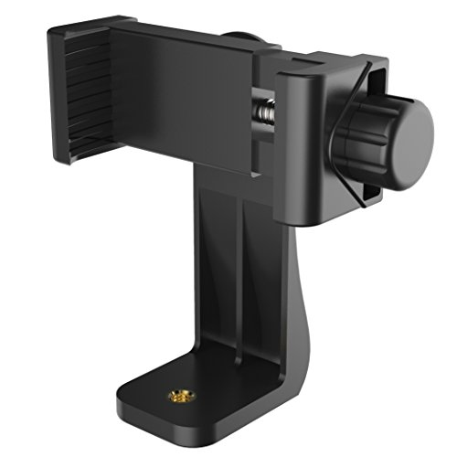 Puroma Universal Phone Holder for Tripod Cell Phone Tripod Mount Adapter Clip for iPhone 8 8plus X, 7 7plus 6 6s 6plus, Samsung, Huawei P9 Honor 8 and More Phones, Selfie Monopod Adjustable Clamp