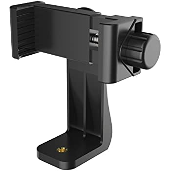 Puroma Universal Cell Phone Tripod Mount Adapter Smartphone Holder Mount Clip for iPhone 7 7plus 6 6s 6plus 5 5s, Samsung, Huawei P9 honor 8 and more Phones, Selfie Monopod Adjustable Clamp Black