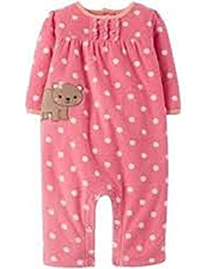 Child of Mine 24m Baby Snap up Microfleece Bear Jumpsuit