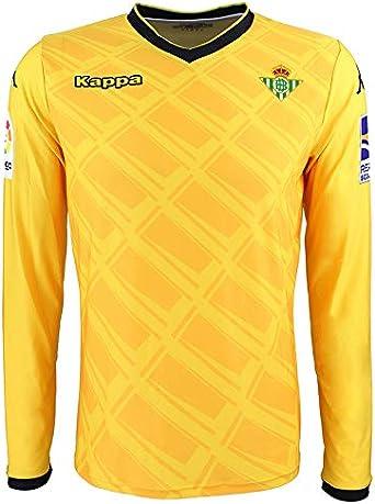 1ª equipación oficial de portero - Real Betis Balompié 2018/2019 - Kappa Official GK Jersey 1 - Amarilla/Negra - Adulto: Amazon.es: Ropa y accesorios