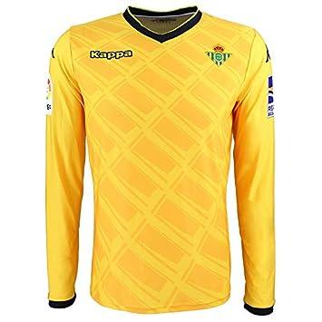 1ª equipación oficial de portero - Real Betis Balompié 2018/2019 - Kappa Official GK Jersey 1 - Amarilla/Negra - Adulto: Amazon.es: Deportes y aire libre