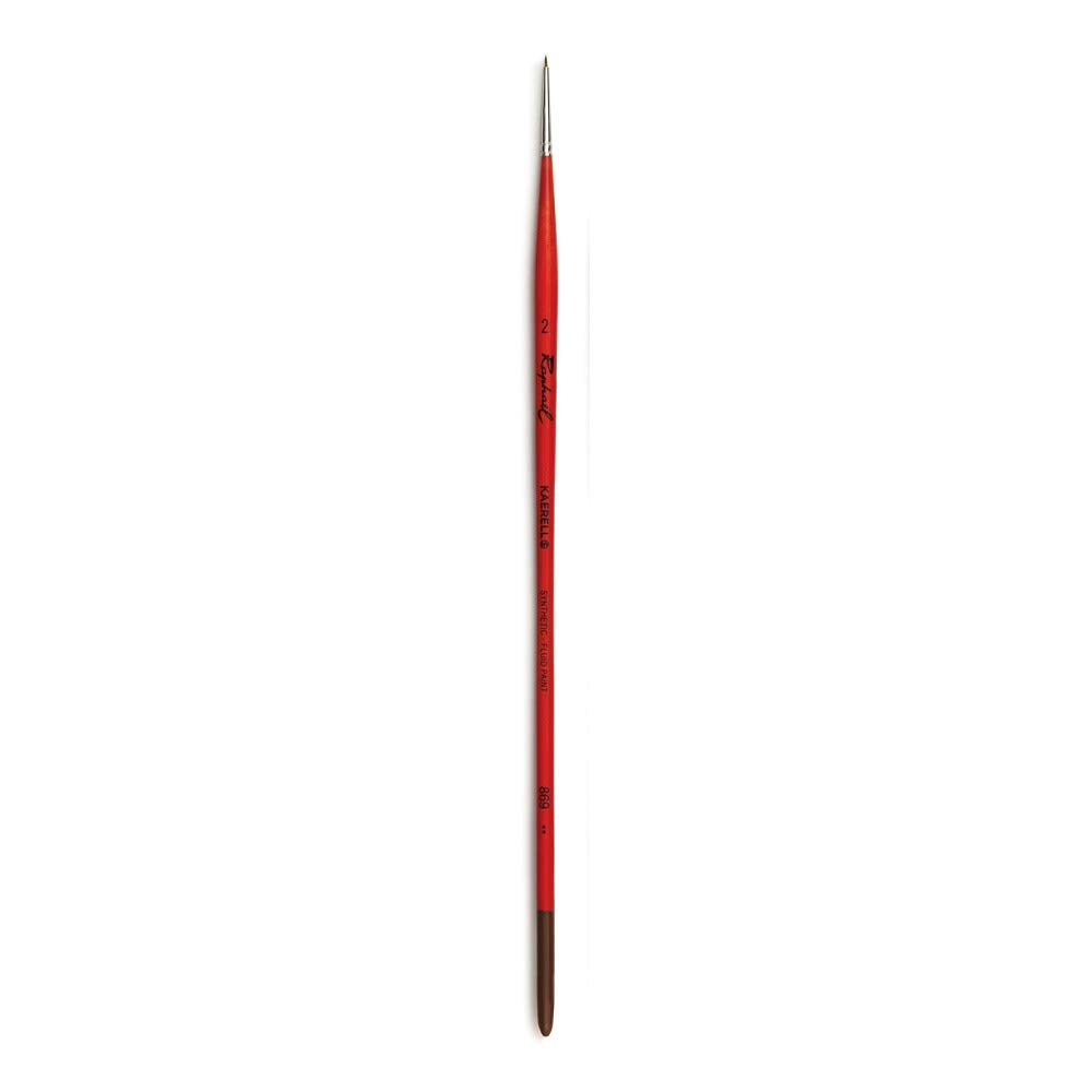 Raphael Kaerell Synthetic Brush, Oil and Acrylic, Series 869, Round, Size 02 by Raphael