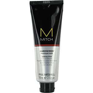 Paul Mitchell Men by Paul Mitchell Men Mitch Hardwired Maximum Hold Spiking Glue for Men, 2.5 Ounce