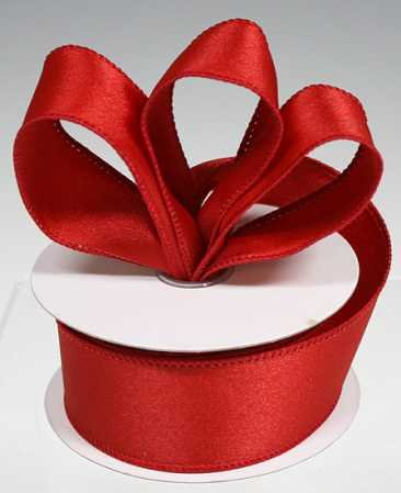 3 Spools - 1-1/2 red satin ribbon