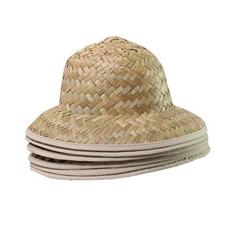 Making Believe 6 Kids Straw Pith Safari Explorer Hats