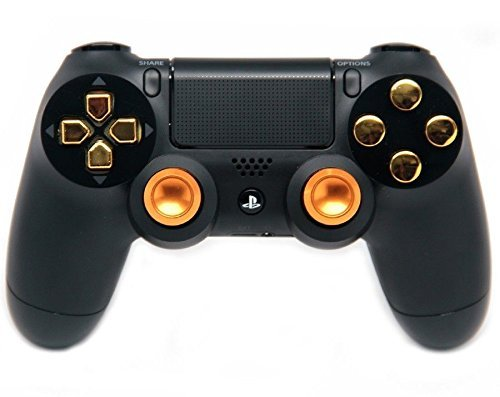Black/Gold Aluminum Ps4 Rapid Fire Custom Modded Controller 35 Mods