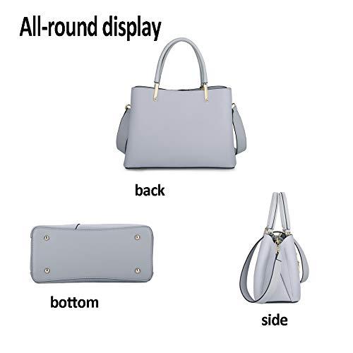 Large Women Female Metal Diagonal Handbag Pu Blue Shoulder Capacity Leather Pendant Fashion Bag PPqg8r