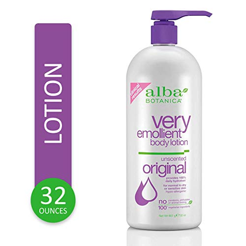 Alba Botanica Very Emollient, Unscented Body Lotion, 32 Ounce 2020