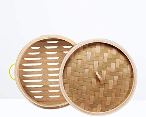 41ZIbsYk7dL. AC DOITOOL Natural Bamboo Steamer Basket Set with Handle and Lid 20cm Traditional Chinese Steamer Basket Food Steaming Pot for Dumpling Bao Bun Dim Sum     Description 2 pcs Bamboo Steamer Kitchen Round Buns Steamer Cookware Food Steamer Cooking Tools for Restaurant Home