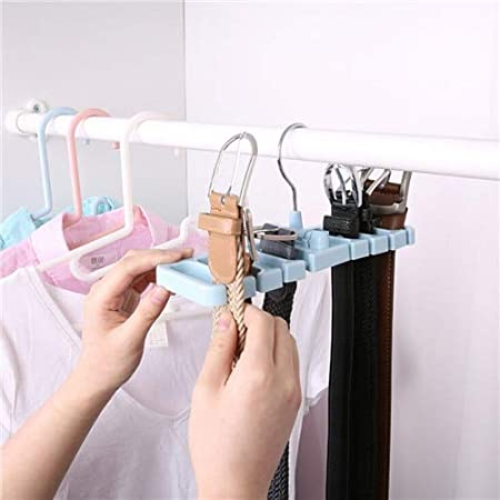 Closet Storage Rack Tie Belt Scarf Organizer Space Saver Rotating Hanger Holder