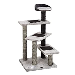 """Ollieroo® High Quality 40"""" H Multi-Level Kitten Cat Tree Furniture Climber - 5 Tiers Cat Tower - Cat Scratching Pads & Scratching Posts - Use the Steps as a Ladder to Climb - Kitty Tree"""