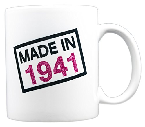 EverMug Made in 1941 - 76th Birthday Gift Mug - 11 oz. White Coffee Mug