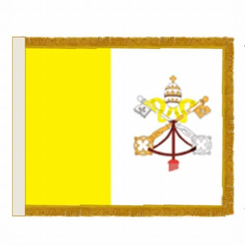 Papal Vatican City Dyed Indoor Parade Nylon Flag Pole Sleeve