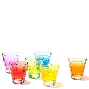 Leonardo Optic - Juego de 6 vasos pequeños, varios colores