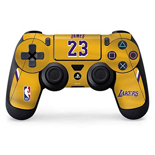 Skinit Los Angeles Lakers PS4 Controller Skin - NBAPI (Players) Skin - Ultra Thin, Lightweight Vinyl Decal Protection