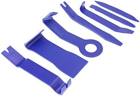 カーオーディオ変換ツール7点セットDVD室内制御分解ブルーロッカードライバーコンビセット-ブルー